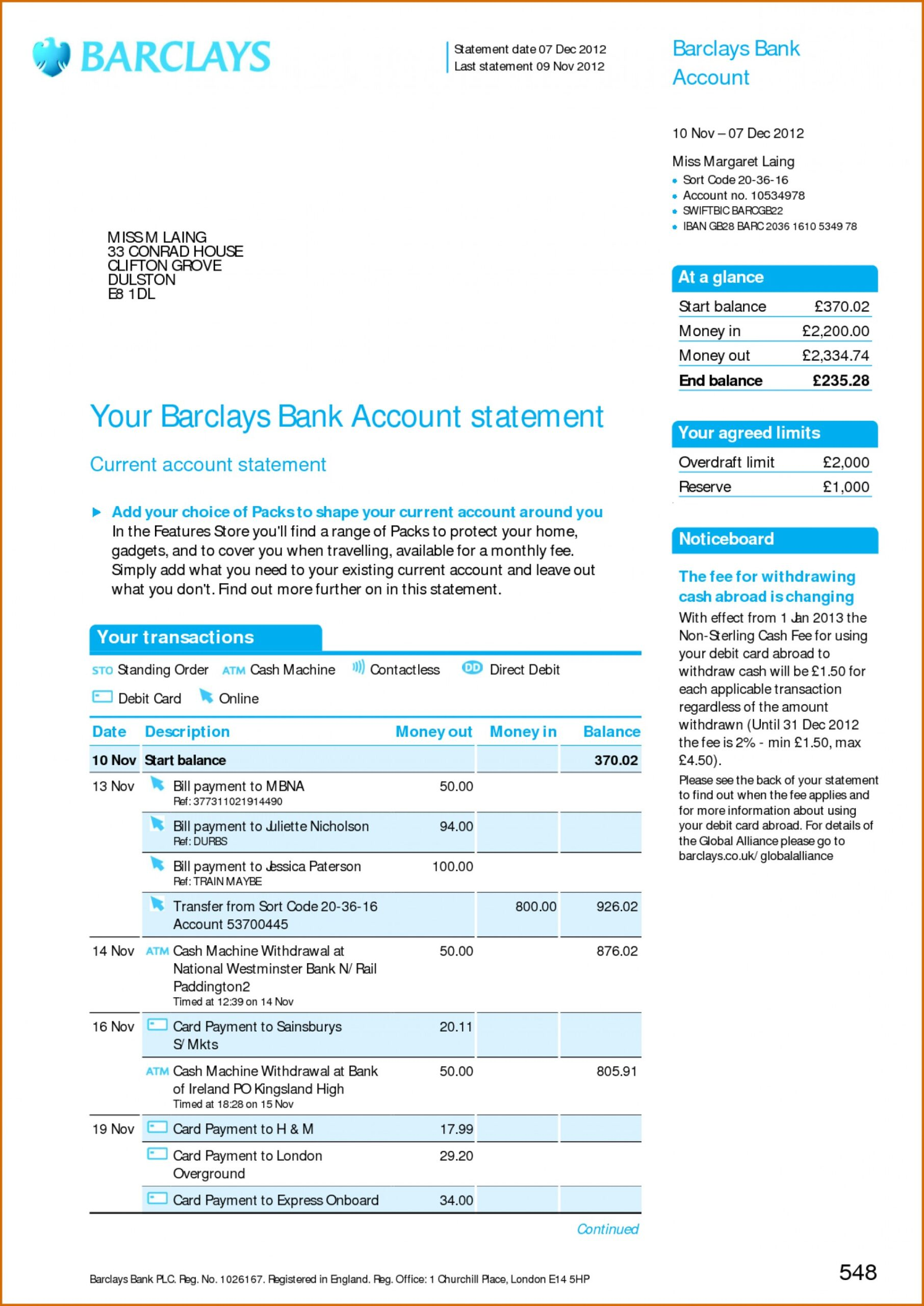 Fake Bank Statement, Pay Slips, Utility Bills - Pro Print Works Pertaining To Credit Card Statement Template